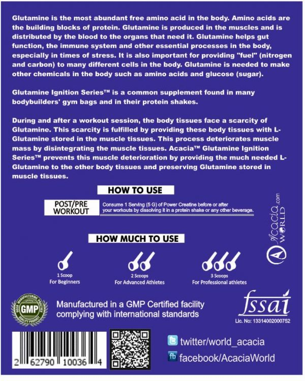 Acacia Glutamine Ignition Series™ 300 grams details