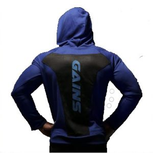 Gains Emblem Hoodie- Admiral Blue (Armour Edition)