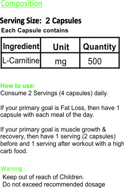evolv-L-Carnitine-supplement-facts